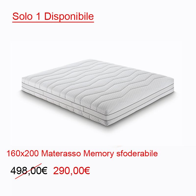 Materasso 160×200 Memory Sfoderabile – Sonno e Benessere